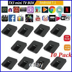 (10) 2GB+16GB TX3Mini Android 7.1 Amlogic S905W Quad Core Media WiFi 4K TV BOX