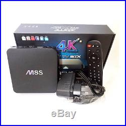 10 Pcs M8S 4K Android 2G/8G WiFi TV Box Quad Core Amlogic Fully Loaded KODI XBMC