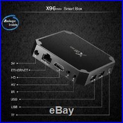 10PCS X96 MINI S905W 2+16G Android 7.1.2 Nougat 4K Quad Core Smart TV BOX C6G1B