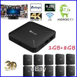 10X Android 7.1 Nougat TV BOX TX3 mini 4K 1G+8G Quad Core WiFi H. 265 Player D2A9