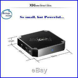 10X X96 Mini Smart Android 7.1.2 TV Box 1G+8G Quad Core H. 265 WiFi Media Player