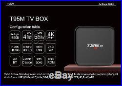 10pcs T95M Amlogic S905 Android 5.1 Quad Core 4K TV BOX 2GB/8GB Kodi Movie Video