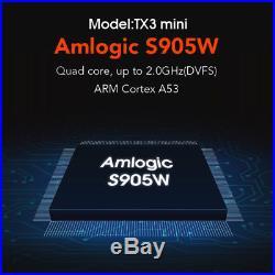10pcs TX3 mini 4K S905W Quad Core Android 7.1 TV BOX 2GB+16GB WiFi HD Media U3P7