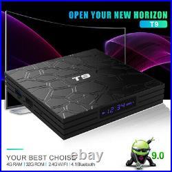 10pcs/lot dhl free T9 RK3318 Android 9.0 TV Box QuadCore USB 3.0 4K Set Top Box