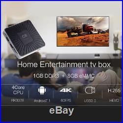 10x C8 RK3328 1/8G Android 7.1 Quad-Core Smart TV BOX 1080P WiFi Media Player KJ