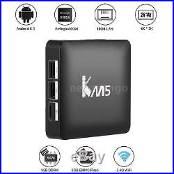 10x KM5 4K Android 6.0 Smart TV Box Amlogic S905X Quad Core H. 265 WIFI 3D Player