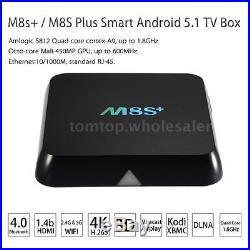 10x M8S+ Plus Quad Core Android 5.1 Smart TV BOX XBMC Kodi Fully Loaded Wifi 4K