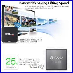 10x M9S-PRO Amlogic S905X Quad Core Android 6.0 TV BOX 2.4GHz WiFi 4K Player 8GB