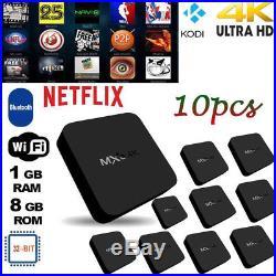 10x MXQ4K TV Box Android 7.1 RK3229 Quad Core 1G 8G 4K WiFi KOD 18.0 H. 265 S0P4