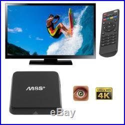 15PCS Quad Core M8S+ Smart 3D TV BOX Android6.0 8G 16.1 Network streamer HDMI BP