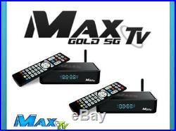 2 Pack Of Max Tv Gold 5g 4k Ultra-hd Iptv Box+android 7.1 Quad-core 64 Bit