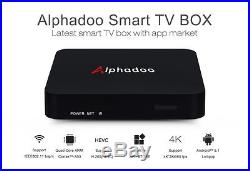 2017 ALPHADOO H. 265 4K Quad Core Android 5.1 TV BOX