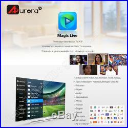 2018 Newest AURORA TV BOX Hindi live tv /iptv /playback movies and shows