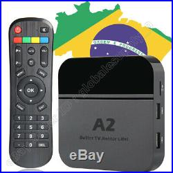 2019 Newest 4K A2 TV Box IPTV 6 Brazil Live TV & adult app 4K 3D Bluetooth