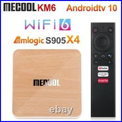 2021 Mecool KM6 Deluxe Amlogic S905X4 Smart TV Box Android 10.0 4GB 64GB Top Box