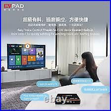2021 NEW EVPAD 5MAX(4G+128G) 6k Voice Control AI Android TV Box (4+128GB) AI