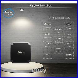 20pcs/lot dhl free X96mini 2G/16G Android 7.1 TV BOX S905W Quad Core TV Box
