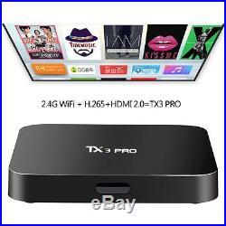 20x TX3 PRO Smart TV Box 4K Android 6.0 Amlogic S905X Quad Core WIFI Moives I4T6