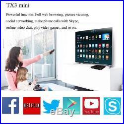 2GB+16GB TX3Mini Android 7.1 Amlogic S905W Quad Core Media WiFi 4K TV BOX LOT