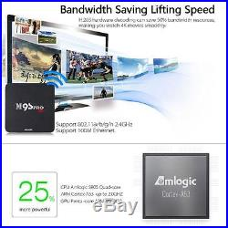 2x M9S-PRO Android 6.0 Amlogic Quad Core 3GB/32GB Smart TV Box 4K Media Player