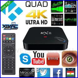 3/5/10 Lots MX3 UHD 4K 3D S812 Quad Core Android 4.4 8GB Smart TV BOX Kodi Wifi