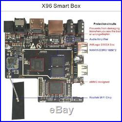 3/5/10 PCS 2G+16G X96PLUS Android 6.0 S905X Quad Core 4K H. 265 TV BOX WIFI HDMI