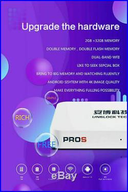 40 17 Unblock Tech Tv Box Ubox7 Gen7 Prosfree Keyboard