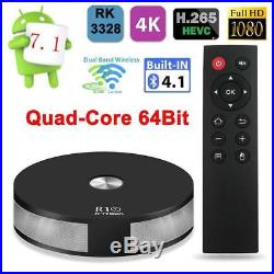 4K R10 Smart TV Box RK3328 Android 7.1 Quad-Core 64Bit DLNA Dual WIFI LAN Media