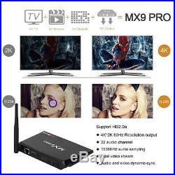 4x MX9 Pro 2G+16G Quad Core Android 7.1 TV Box 64Bit H. 265 4K WiFi 3D Movies
