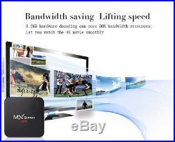5/Lot MXQ Pro 4K Amlogic S905 2.0GHz Quad Core Android 5.1 Smart TV Box HDMI 1+8