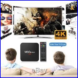 50PC MXQPro S905W Quad Core WiFi UHD 4K Smart TV Box Android 7.1 KODI 17.6 Media