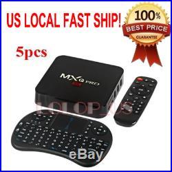 5PCS MXQ Pro S905 Android 5.1 Quad Core 1G/8G 1080P HD TV Box+Mini i8 Keyboad