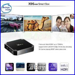 5PCS X96 Mini 4K HD S905W Android 7.1.2 1G/8G Quad Core Wifi Smart TV Box Y4D3