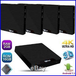 5Pcs W95 Android 7.1 TV Box S905W Quad Core H. 265 4K 2.4G WiFi HD 2GB+16GB R6Y9N