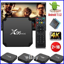 5Pcs X96 MINI 2G+16GB Android 7.1.2 4K Amlogic S905W Quad Core Smart TV BOX WIFI