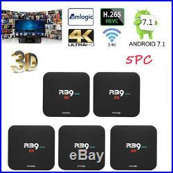 5X Docooler R39 STAR TV Box Android 7.1 RK3229 Quad Core 4K H. 265 2G+16G Media