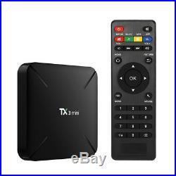5X TX3 Mini 4K TV Box 1GB 8GB Android 7.1 Quad Core WiFi Smart H. 265 Media R1Q7