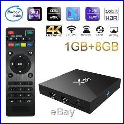5X X96 Amlogic S905W Quad Core 1+ 8G ROM Wifi 1080p 64 Bit android6.0 tv box