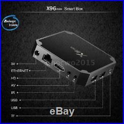 5X X96 Amlogic S905W Quad Core Smart TV Box HD 4K WIFI 1GB 8G Android 7.1 Media