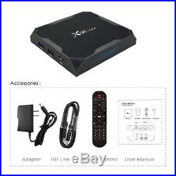5X X96 Max Android8.1 4/32GB Smart TV Box S905X2 Quad Core Wifi 4K HD Media R8C7