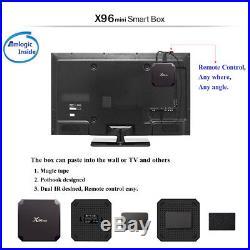 5X X96 Mini TV Box Android 7.1 S905W Quad Core WiFi HD 2GB+16GB 4K Player J3M9