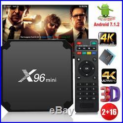 5pc/lot X96 mini TV Box 4K Quad-core 2GB 16GB Android 7.1 3D Media Player V2T8L