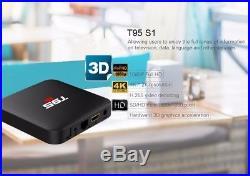 5pcs/lot dhl free T95 S1 Android 7.1 TV BOX S905W Quad Core Voice Remote Control