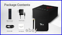 5pcs/lot dhl free TX6 Android 9.0 TV BOX 2G/16G 4G/32G H6 Quad core 6K H. 265