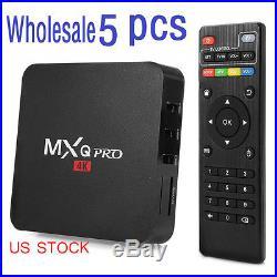 5x MXQ PRO KODI XBMC 4K S905 Quad Core Android 5.1 Smart TV Box Fully Loaded US