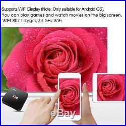 5x V88 4K Smart Android 6.0 TV Box RK3229 Quad Core WiFi Media Player H3K5