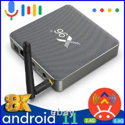 8K Android 11 TV Box 4G/8GB RAM Voice Assistant Set-Top Box 5G 11AC Media Player