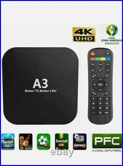 A3 TV Box IPTV Brazil Brasil Brasilia Bestv 4k Ultra HD 2gb DDR WiFi FREE SHIP