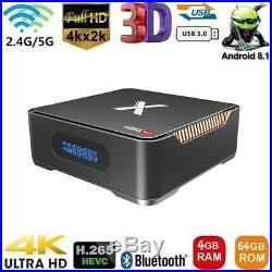 A95X MAX 4K S905X2 Quad Core Android 8.1 TV BOX 4GB+64GB 2.4G/5G WiFi BT4.2 USB