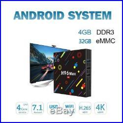 Android 7.1 Smart TV Box 4GB RAM 32GB ROM Quad Core 4K Ultra HD 3D Media Player